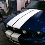 Minor Body Auto Repair Blue Mustang