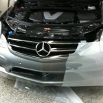 Paint Protection Film Applied to Black Mercedes