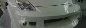 Paint Protection Film Applied to Hood of White Vehicle