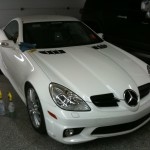 Power Polishing White Mercedes