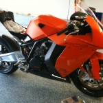 Repaired Orange Motorcycle