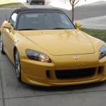 Repaired Yellow Honda